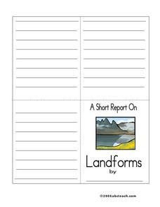 A Short Report On Landforms Printables & Template