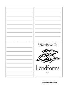 A Short Report on Landforms Worksheet