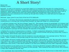 A Short Story! Lesson Plan