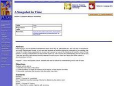A Snapshot in Time Lesson Plan