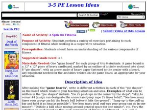 A Spin On Fitness Lesson Plan