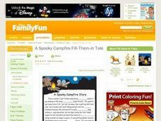 A Spooky Campfire Fill-Them-in Tale Lesson Plan