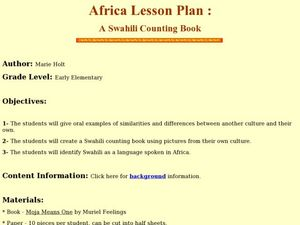 A Swahili Counting Book Lesson Plan