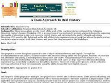 A Team Approach to Oral History Lesson Plan