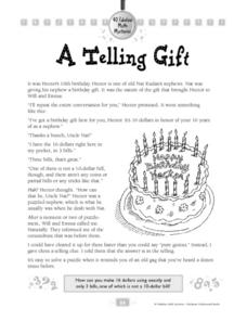 A Telling Gift Worksheet