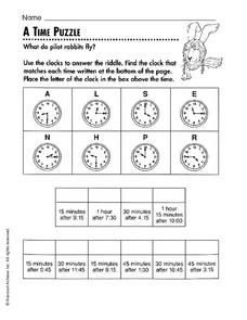 A Time Puzzle Worksheet