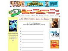 A to Z Mysteries:  Name the Books Lesson Plan