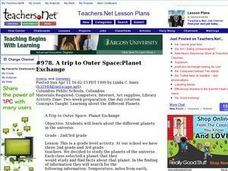A Trip To Outer Space: Planet Exchange Lesson Plan