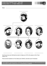 A Tudor Family Tree Worksheet