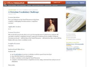 A Victorian Vocabulary Challenge Lesson Plan