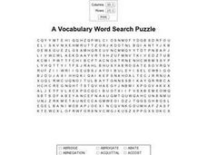A Vocabulary Word Search Puzzle Worksheet
