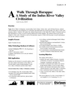 A Walk Through Harappa: A Study of the Indus River Valley Civilization Lesson Plan