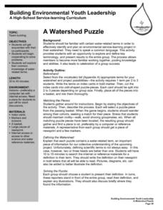 A Watershed Puzzle Lesson Plan
