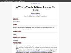A Way to Teach Culture: Guns or No Guns Lesson Plan
