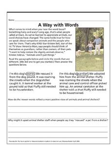 A Way with Words Lesson Plan