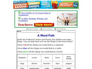 A Word Path Worksheet