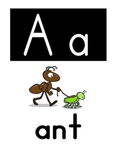 Aa is for Ant Worksheet