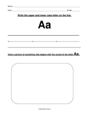 Aa Worksheet