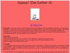 Aaaaa! The Letter A! Lesson Plan