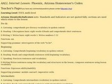 AALL Internet Lesson: Phoenix, Arizona Homeowner's Codes Lesson Plan