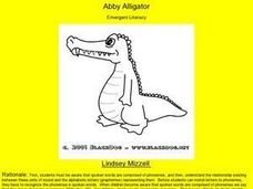 Abby Alligator Lesson Plan