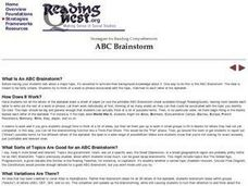 ABC Brainstorm Lesson Plan