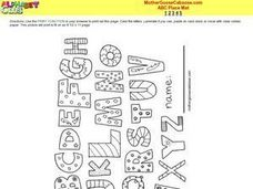 ABC Placemat Worksheet
