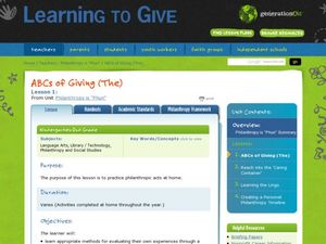 ABC's of Giving Lesson Plan