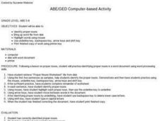 ABE/GED Computer-based Activity Lesson Plan