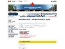 Aboriginal Societies of Canada Lesson Plan