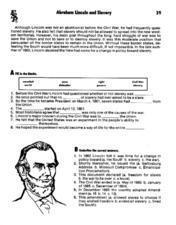 Abraham Lincoln and Slavery Lesson Plan