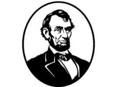 Abraham Lincoln Coloring Page Worksheet