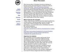 Abraham Lincoln In Indiana Lesson Plan
