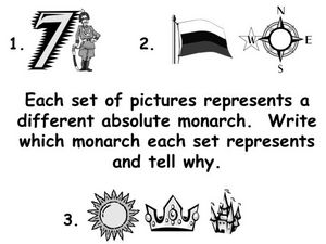 Absolute Monarchs Identification Lesson Plan