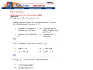 Absolute Value Inequalities Worksheet