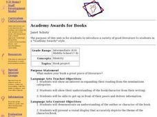 Academy Awards for Books Lesson Plan
