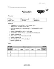 Acceleration 1 Lesson Plan