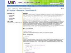 Accounting -- Preparing Payroll Records Lesson Plan