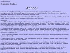 Achoo! Lesson Plan