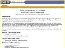 Acid and Rain and Its Effects Lesson Plan