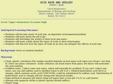 Acid Rain And Geology Lesson Plan