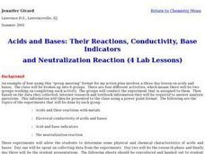 Acids and Bases: Their Reactions, Conductivity, Base Indicators and Neutralization Reaction Lesson Plan