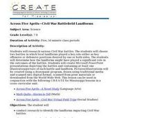 Across Five Aprils-Civil War Battlefield Landforms Lesson Plan