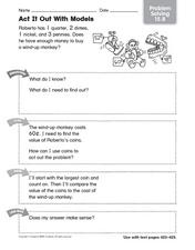 Act It Out With Models Worksheet