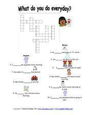 Action Noun Collocation Crossword Puzzle Worksheet