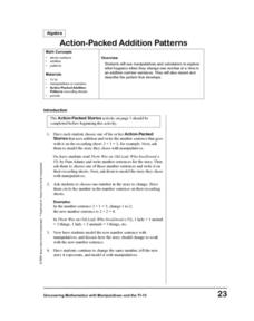 Action-Packed Addition Patterns Lesson Plan