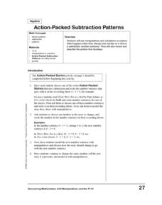 Action =Packed Subtraction Problems Lesson Plan