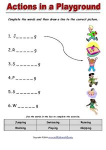 Actions in a Playground Worksheet
