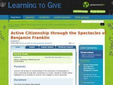 Active Citizenship through the Spectacles of Benjamin Franklin Lesson Plan