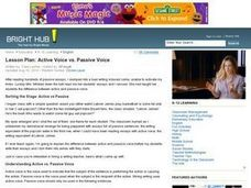 Active Voice vs. Passive Voice Lesson Plan